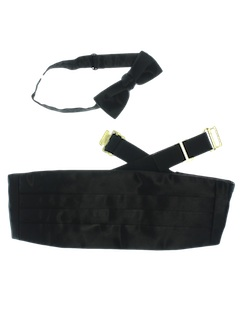 1980's Mens Accessories - Bowtie Necktie/Cummerbund Set