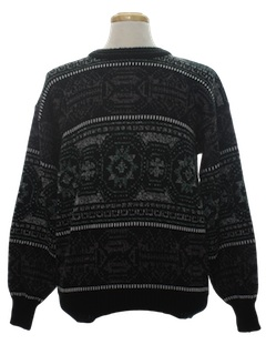 1980's Mens Totally 80s Cosby Style Pullover Sweater
