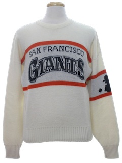 1980's Mens Baseball Pullover Sweater