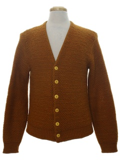 1960's Mens Wool Mod Cardigan Sweater