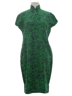 1960's Womens Cheongsam Cocktail Dress