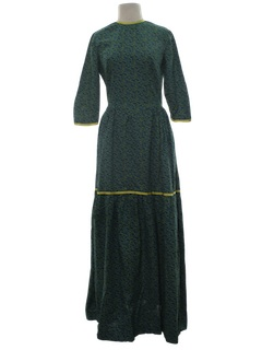 1960's Womens Prairie Hippie Dress