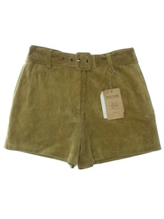 1990's Womens Suede Hot Pants Leather Shorts