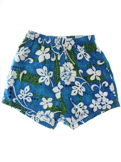 1970's Mens Hawaiian Swim Shorts
