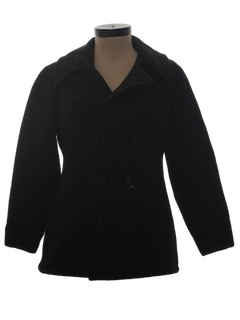 1960's Womens Pea Coat Jacket