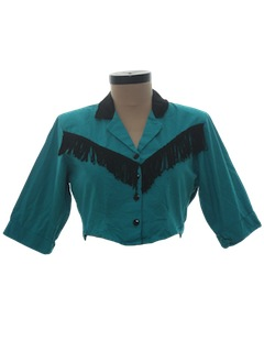 1980's Womens Cropped Western Shirt