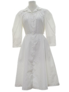 1980's Womens Totally 80s Nurse Dress