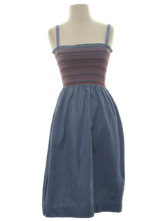 1980's Womens Totally 80s Denim Dress