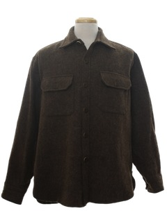 1980's Mens Wool CPO Style Shirt Jacket