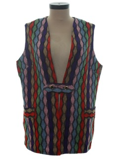 1970's Womens Wool Hippie Vest