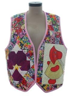 1980's Womens Patchwork Quilt Vest