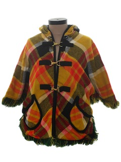 1960's Womens Reversible Mod Poncho Jacket