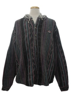1990's Mens Wicked 90s Guatemalan Style Shirt Jacket
