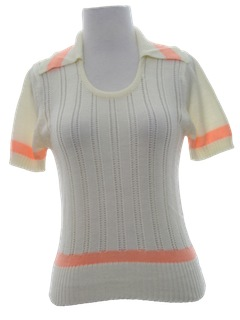 1970's Womens Sweater Knit Shirt