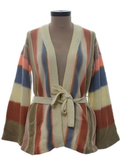 1970's Womens Hippie Style Cardigan Sweater