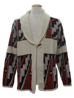 1970's Unisex Hippie Style Cardigan Sweater