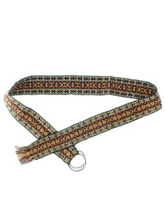 1970's Womens Accessories - Hippie Belt
