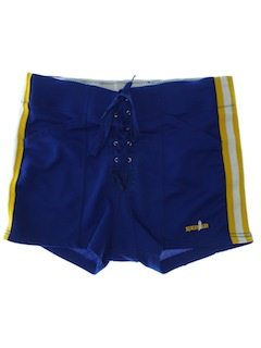 1980's Mens Totally 80s Wrestling/Sport Shorts