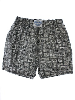 1980's Mens Totally 80s Baggy Print Pants Style Shorts