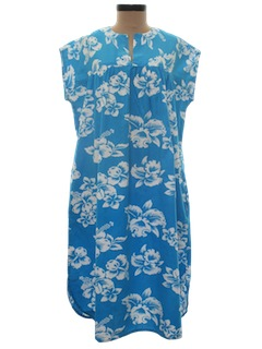 1980's Womens Hawaiian Muu Muu Dress