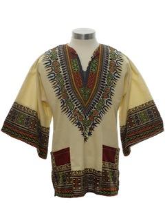 1970's Unisex Daishiki Hippie Shirt