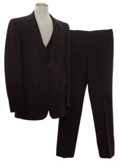 1980's Mens Three Piece Business Suit