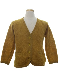 1960's Mens Cardigan Sweater