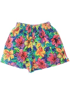 1980's Womens Totally 80s Sport Shorts