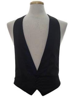 1990's Mens Wicked 90s Tuxedo Vest