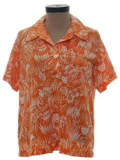 1970's Womens Hawaiian Style Shirt