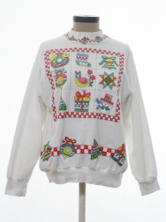 1990's Womens Country Kitsch Ugly Christmas Vintage Sweatshirt