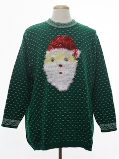 1990's Unisex Hand Embellished Ugly Christmas Vintage Sweater