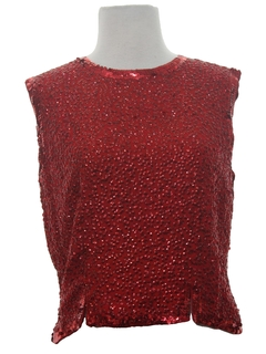 1960's Womens Mod Sequined Cocktail Shirt