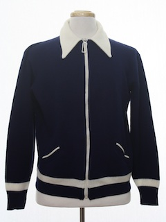 1970's Mens Mod Sweater Jacket