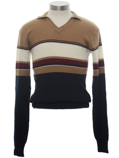 1980's Mens/Boys Mod Knit Shirt