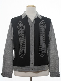 1960's Mens Mod Knit Shirt Jac