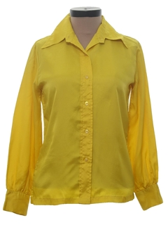 1970's Womens Solid Disco Shirt