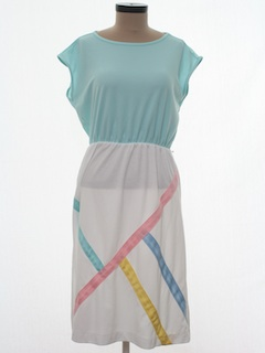 1980's Womens Totally 80s Dress