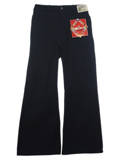 1970's Unisex (made for a man but cute on a woman too) Navy Issue Bellbottom Jeans Pants