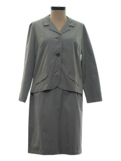 1980's Womens Secretary Jacket & Skirt Suit