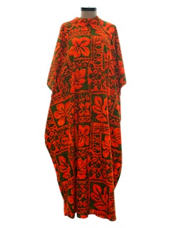 1960's Womens Hawaiian MuuMuu Dress