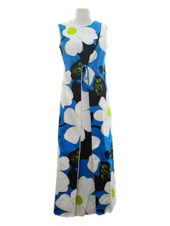 1960's Womens Mod Hawaiian Dress