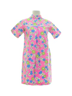 1960's Womens Mod Baby Doll Dress