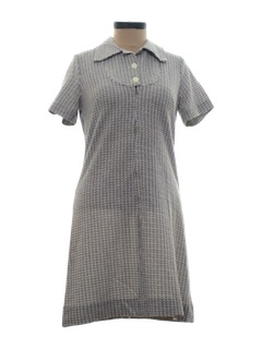 1970's Womens Mod Knit Mini Dress