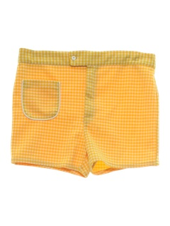 1960's Mens Mod Knit Golf Shorts