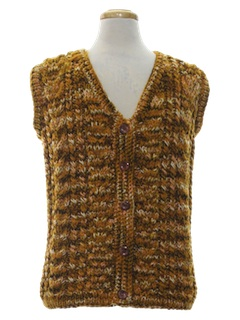 1970's Unisex Mod Sweater Vest