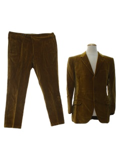 1960's Mens Velveteen Suit