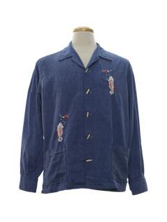 1960's Mens Mod Hippie Shirt Jac