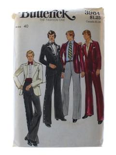 1970's Mens Tuxedo Pattern