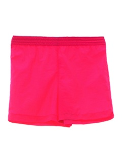 1980's Unisex Totally 80s Neon Sport Shorts